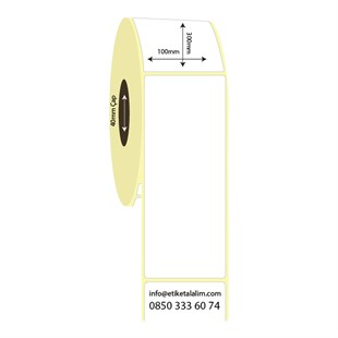 100mm x 300mm Lamine Termal Etiket (Sticker)