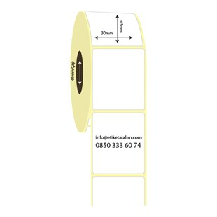 30mm x 45mm Lamine Termal Etiket (Sticker)