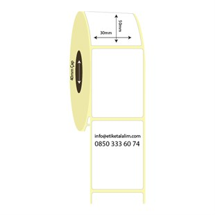 30mm x 50mm Lamine Termal Etiket (Sticker)