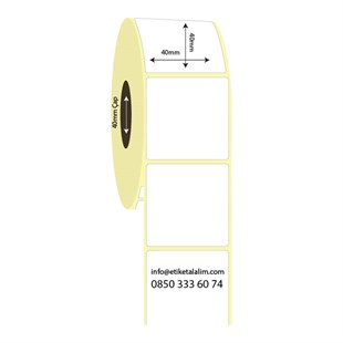 40mm x 40mm Lamine Termal Etiket (Sticker)