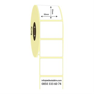 50mm x 35mm Lamine Termal Etiket (Sticker)