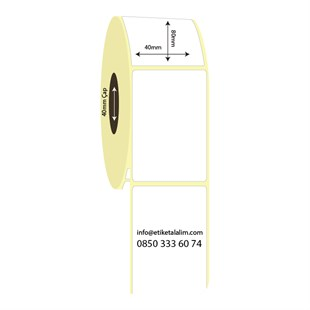 40mm x 80mm Termal Etiket (Sticker)