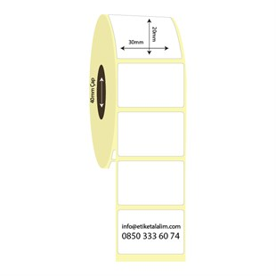 30mm x 20mm Vellum Etiket (Sticker)