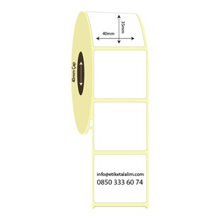 40mm x 35mm Vellum Etiket (Sticker)