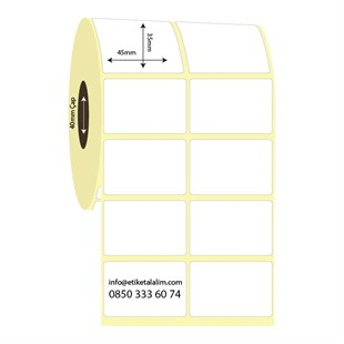 45mm x 35mm Vellum Etiket (Sticker)