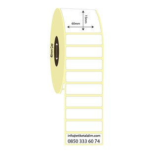 60mm x 15mm Vellum Etiket (Sticker)