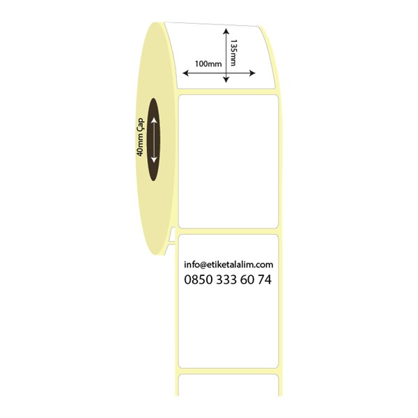 Vellum Etiket (Sticker)100mm x 135mm Vellum Etiket (Sticker)